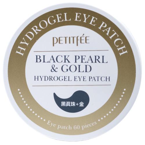 Гидрогелевые патчи под глаза с золотом и пудрой черного жемчуга, Petitfee